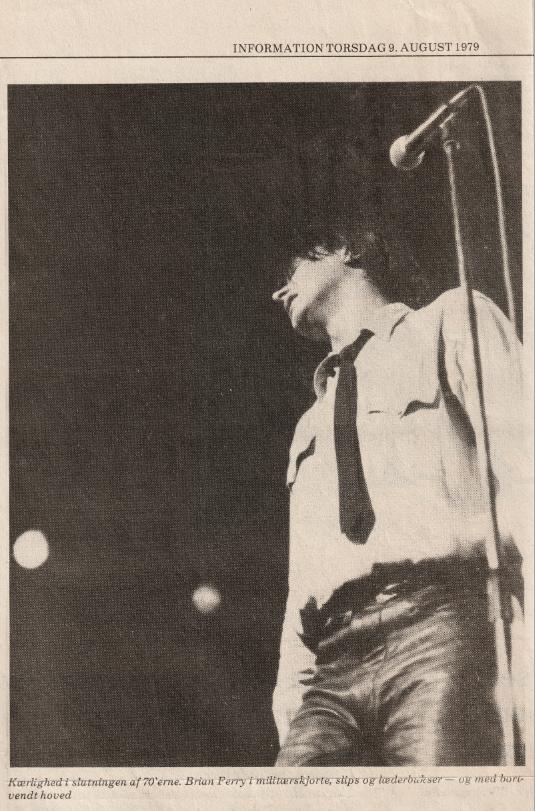Bryan Ferry Lars Schwander Dagbladet Information 1979 Sommersiderne